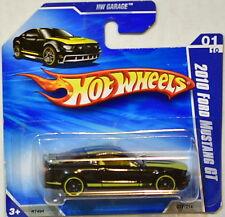HOT WHEELS 2010 HW GARAGE FORD MUSTANG GT #01/10 BLACK SHORT CARD