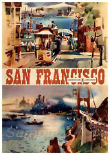 SF02 VINTAGE SAN FRANCISCO AMERICAN AIR LINES TRAVEL A3 POSTER PRINT