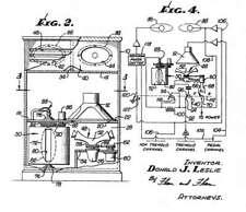 Old, antique loudspeaker, organ speaker D. LESLIE : histor. documents 1948-