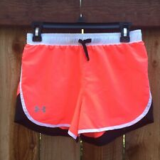 💕 Under Armour Youth Girls Shorts Large Pink/White/Black Running Gym Sports