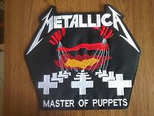 METALLICA,MASTER OF PUPPETS,SEW ON EMROIDERED LARGE BACK PATCH