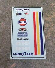 1/18 Custom Driver Figure & Helmet Decals Peter Gethin 1971 Gulf McLaren F1