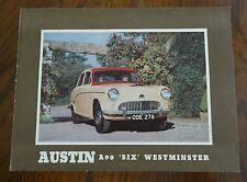 "1956 Austin A90 ""Six"" Westminster Sales Brochure Catalog Publication 1153"