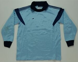 Rare VTG ADIDAS Small Trefoil Long Sleeve Goalie Keeper Soccer Jersey 80s Youth