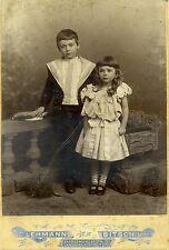 Altes CDV Foto Photographen Lehmann Bitsch Kinder Geschwister