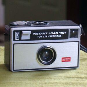 RARE 1960s Imperial Instant Load 1104 for 126 Cartridge Camera Kodak Patent Use