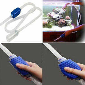 Aquarium Vacuum Water Pump Changer Gravel Cleaner Fish Tank Siphon UK -0827