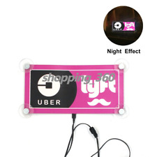For UBER LYFT Car Taxi Logo Glowing Bright LED Decal Rideshare Light Sign USPS