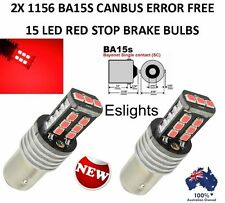 2X BA15S 1156 P21W 2835 15 LED STOP BRAKE SIGNAL INDICATOR CANBUS BULB GLOBE RED