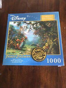 NIP Disney Artist Series 1000 Puzzle James Coleman Winnie the Pooh Afternoon Nap