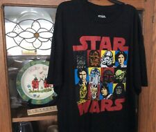 Star Wars T shirt Black Darth Vader Skywalker Princess Leia NWT XLT