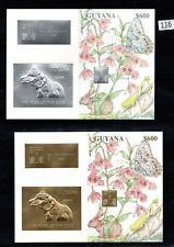 /// GUYANA - MNH - GOLD+SILVER - BUTTERFLY - YEAR OF DOG - CHINA - HONG KONG