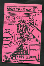 C1980s Illustrated QSL Card: Water-Man, Whiskey Mike: Gloucester