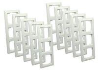 10 STÜCK Gira Rahmen 3-fach ST55 reinweiß-glänzend / 021303