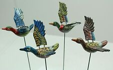 NEW Set Of 12 x Colourful Flying Ducks - Free Delivery