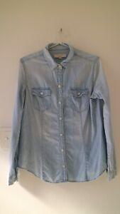 LOFT - Demimn Long Sleeve Button-Up Shirt (Size M)