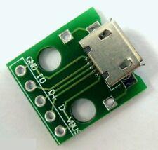 Connecteur micro USB femelle PCB / Micro USB connector & module board PCB plate