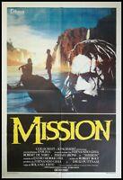 "THE MISSION 1986 Original Movie Poster 39x55"" 2Sh Italian ROBERT DE NIRO"