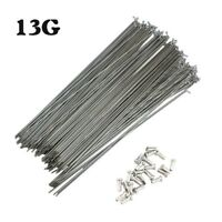 36PCs Bicycle Spokes & Nipples 13G 82-305mm Long J-Bend Spoke MTB Folding Bike
