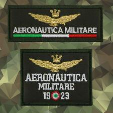Toppe aeronautica militare italiana kit set patch militari ricamate termoadesivo