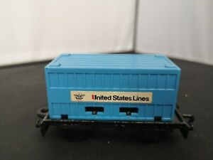 B726-MATCHBOX SUPERFAST No25C FLAT CAR AND UNITED STATES LINES CONTAINER