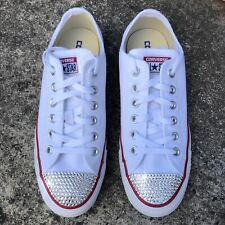 Custom Converse All Star Trainers with Swarovski Crystals Wedding Bridal Bling