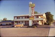 "Cars Sign at Tiny Retro ""State Street Motel"" Vintage 1980s Slide Photo"