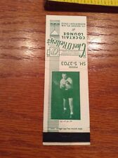 Chet O'Kelley Boxer O'Kelley's Coctail Lounge Matchbook Cover Boxing Image