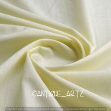 Indian Plain Cream Fabric 100% Cotton Light Weight New Sanganeri Fabric Craft