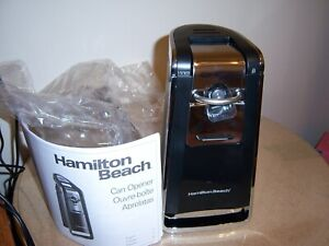 Hamilton Beach 76606ZA Smooth Touch Electric Automatic Can Opener - Black/Chrome