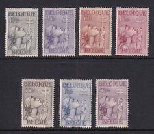 Belgium Mint Stamps Sc#B144-B150 MH