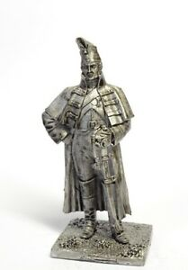 Tin soldier, figure. Guard dragoon in a greatcoat 1813 54 mm