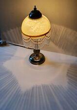 Estilo Tiffany Malone Gatsby Lámpara De Mesa-moteado Pantalla de Vidrio Amarillo en muy buena condición