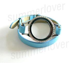 Floating Charm Locket Bracelet + PU Leather Wrap Magnetic Glass Locket Wristband