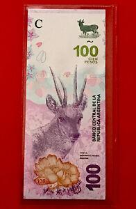 ARGENTINA BANKNOTE NEW DESIGN $100 PESOS 2018 Fauna series , UNCIRCULATED