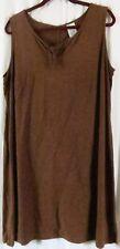 White Stag Dress Brown XL Sleeveless Knee Length