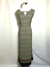 Mlle Gabrielle Size 2X Women's Dress Keyhole Neckline Black Geometric Sleeveless