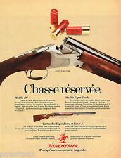 PUBLICITE ADVERTISING 065  1979  WINCHESTER  armurerie  fusil de chasse
