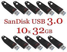 SanDisk 32GB LOT 10x ULTRA USB 3.0 flash drive SDCZ48-032G 32 GB read 100 MB/s