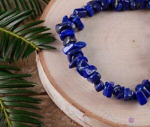 LAPIS LAZULI Crystal Bracelet - Chip Beads - Beaded Handmade Jewelry, E0645