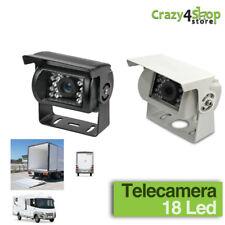 TELECAMERA RETROMARCIA COLORI RETROCAMERA 18 LED AUTO CAMPER SUV FURGONE