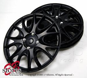 "4pc Set 14 inch Wheel Rim Skin Cover Hubcap Hub caps (14"" Matte Black Style#533)"