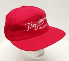 Vintage Freightliner Charlotte Trucking Red Made in USA Snapback Hat Cap