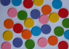 50 edible HUNGRY CATERPILLAR CIRCLE cake topper DECORATION polka dot MULTICOLOUR