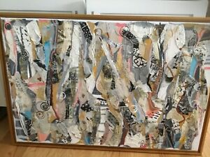 """Original Kathryn Adele Schumacher mixed media abstract painting """"Symphony #9"""""""