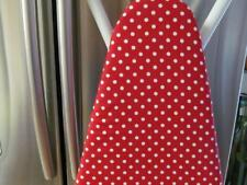 Custom Ironing Board Cover Red with White Polka Dots