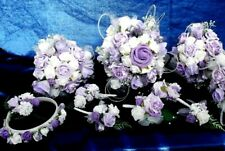 Lilac/White - Wedding Flowers Bouquets/Corsage/Buttonhole/Headband