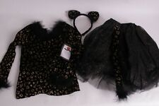 NWT Pottery Barn Kids black gold Leopard Tutu Halloween costume 3T