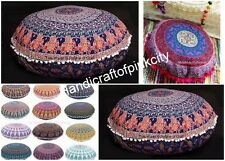 "10 pcs Lot Mandala Floor Pillows Wholesale Lot Round Tapestry pouf Cover 34"""