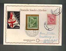 1953 Dusseldorf West Germany Postcard Cover # 9NB4 to Holland Bohemia Stamp